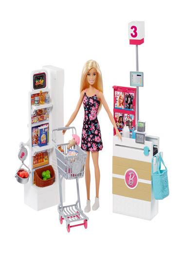 Barbie Barbie Süpermarkette Oyun Seti FRP01 Renkli